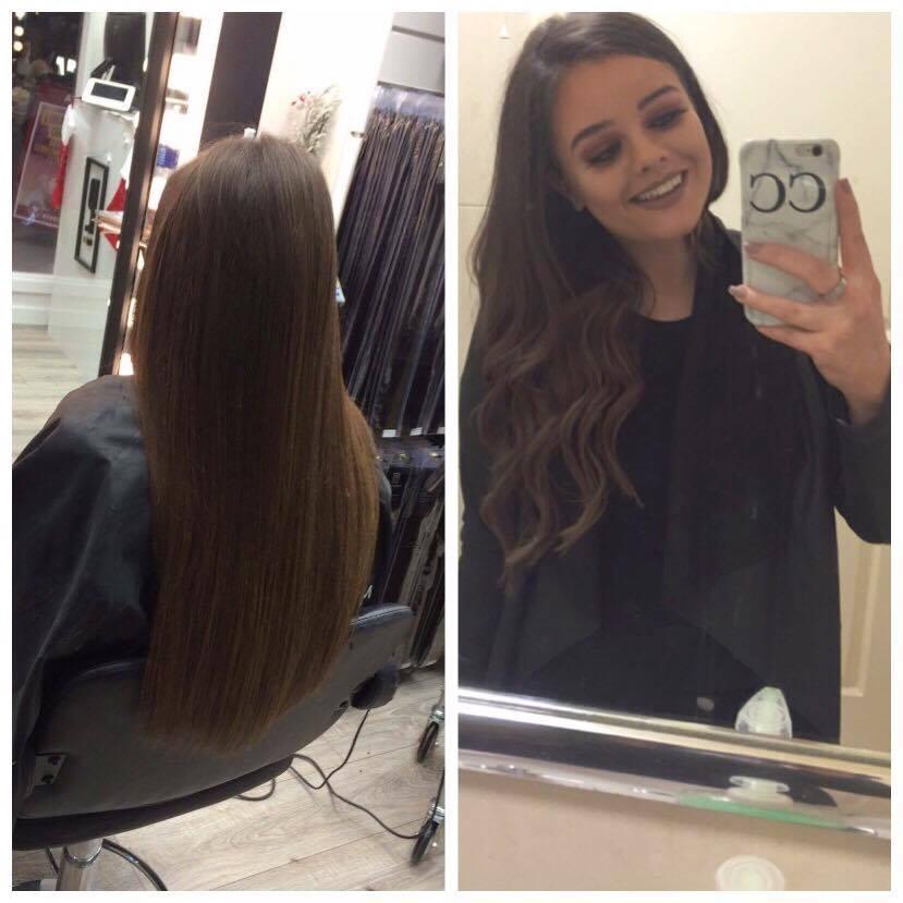 Caoimhe Coughlan Platinum Hair Extensions