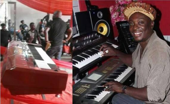 Popular Music Producer, George Forest Buried Inside A Music Keyboard Casket In Ghana