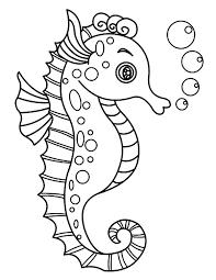 Seahorse Coloring Page 1