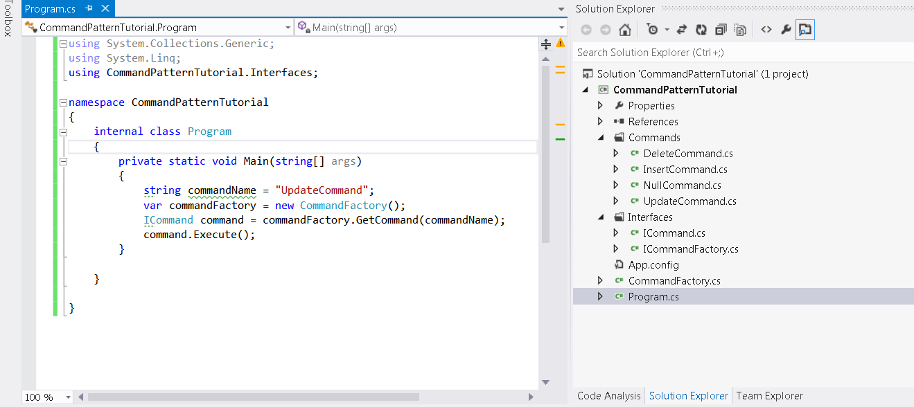 Microsoft Dot Net: Command Pattern Tutorial C# (Also known