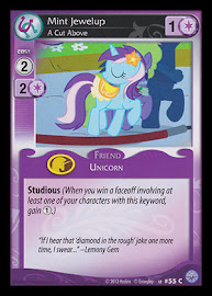 My Little Pony Mint Jewelup, A Cut Above Premiere CCG Card