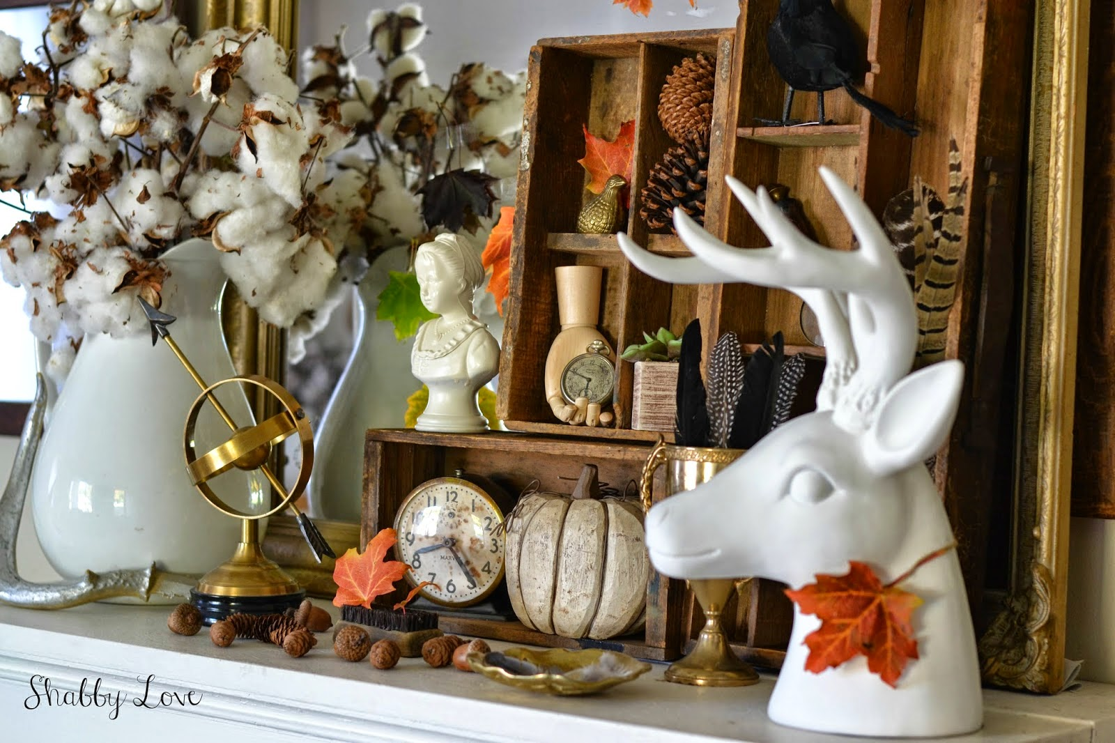 fall mantle eclectic