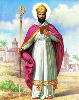 En la imagen San Cipriano obispo.