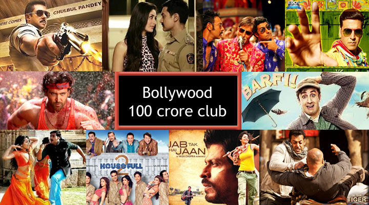 Bollywood 100 Crore Club Movies List : Fastest 100 Crore Hindi Films at Box Office Collection wiki, koimoi, imdb, All Bollywood (Highest Grossing) Movies of all time