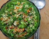 Mighty Perfect Cabbage & Broccoli Coleslaw (A Veggie Venture)