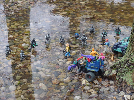 1986 Sears Exclusive Dreadnok Stinger, 1987, Dreadnok Cycle, 1991 Super Sonic Fighters Road Pig, Zarana, Zandar, Thrasher, 1994, 1998, Torpedo, Wetsuit, Shipwreck, Action Sailor, 2002 ARAHC Wave V Internet Exclusive Shipwreck, 1989 Gnawgahyde
