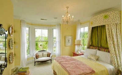 shabby chic yellow paint color