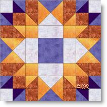 Divided Cross quilt block image © W. Russell, patchworksquare.com