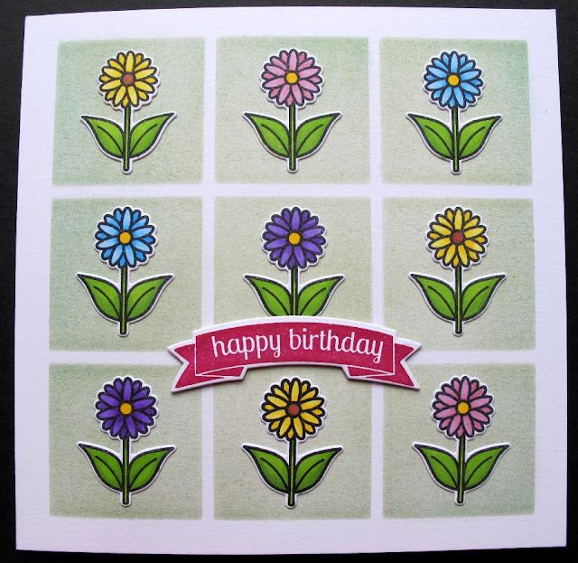Sunny Studio Stamps: Backyard Bugs Daisy Birthday Card by Karen Nutkins