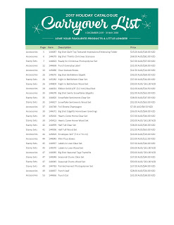 2017 Holiday Catalogue Carryover List pdf
