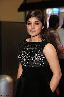 Niveda Thomas Black Sleeveless Cute Dress at 64th Jio Filmfare Awards South 2017 ~  Exclusive 073.JPG