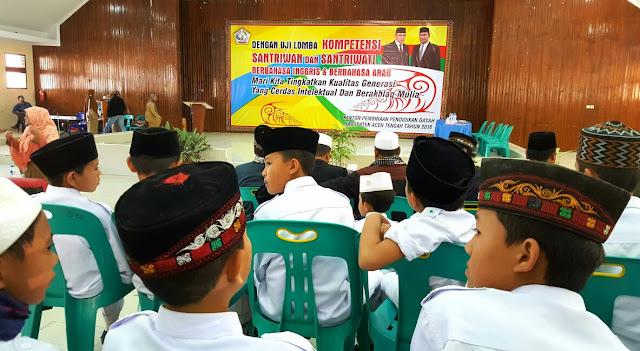 80 Santri Aceh Tengah Ikut Lomba Pidato Bahasa Inggris dan Arab