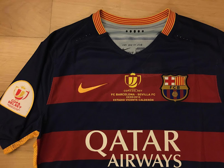 FC Barcelona has unveiled the shirt its team will wear in tonight s Copa  del Rey final. 613d91a20