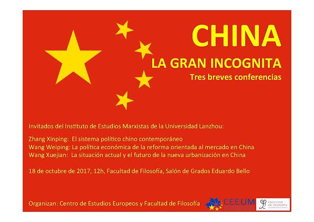 """Conferencia: """"China, la gran incognita"""""""