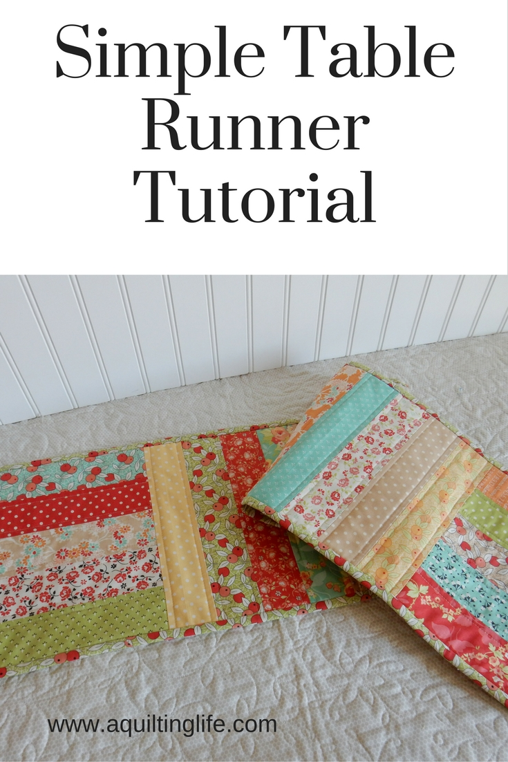Simple table runner tutorial a quilting life a quilt for Simple html table