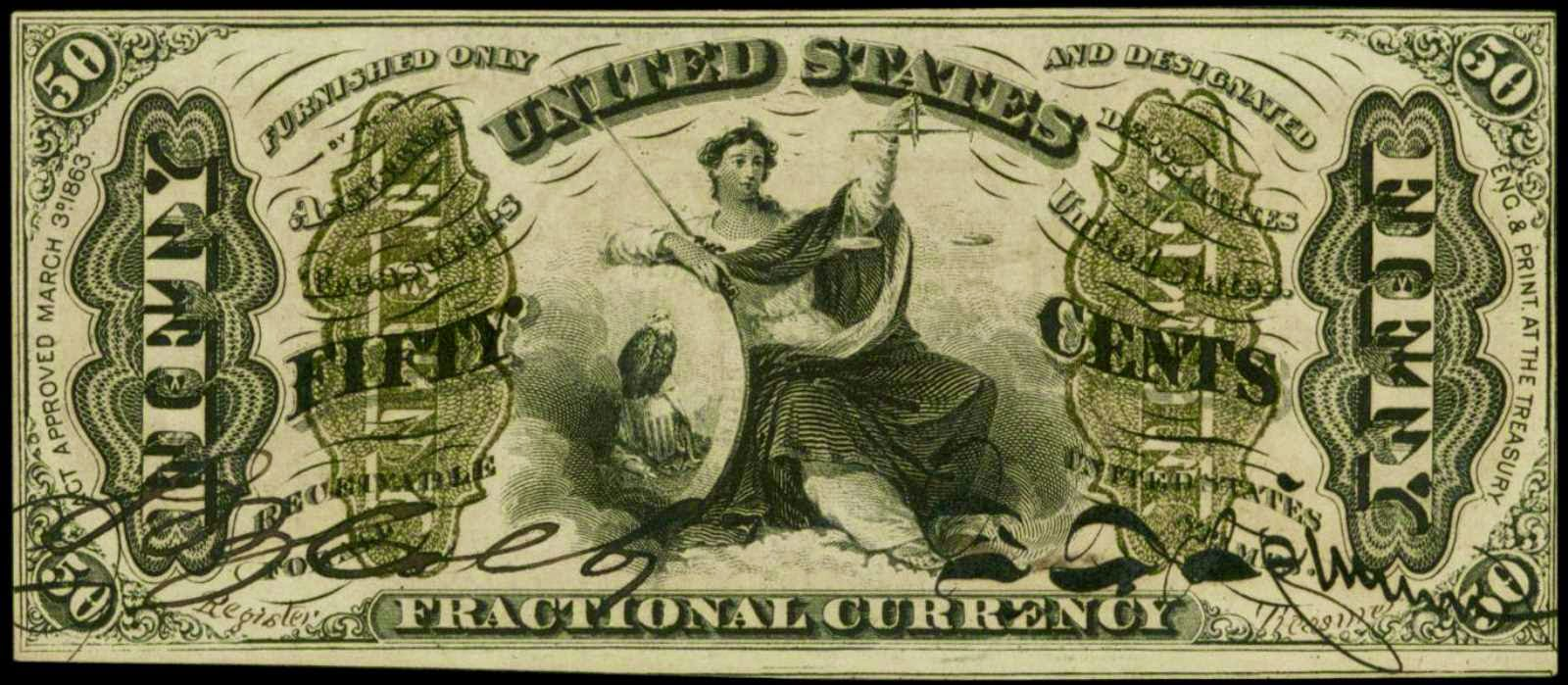 United States Fractional currency 50 Cents