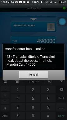 Hanya Sebuah Omong Kosong Transfer Tapi Uang Tidak Sampai