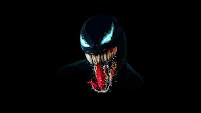 Venom minimalista fondo oscuro
