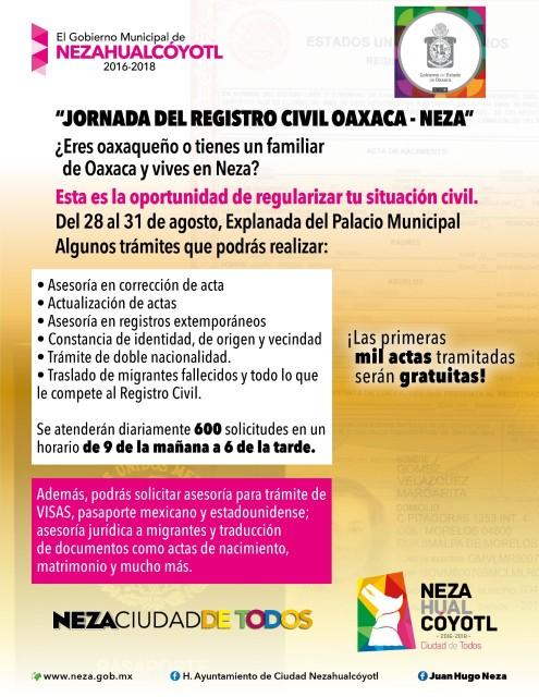 Personas De Oaxaca Y Migrantes De Neza Podrán Tramitar