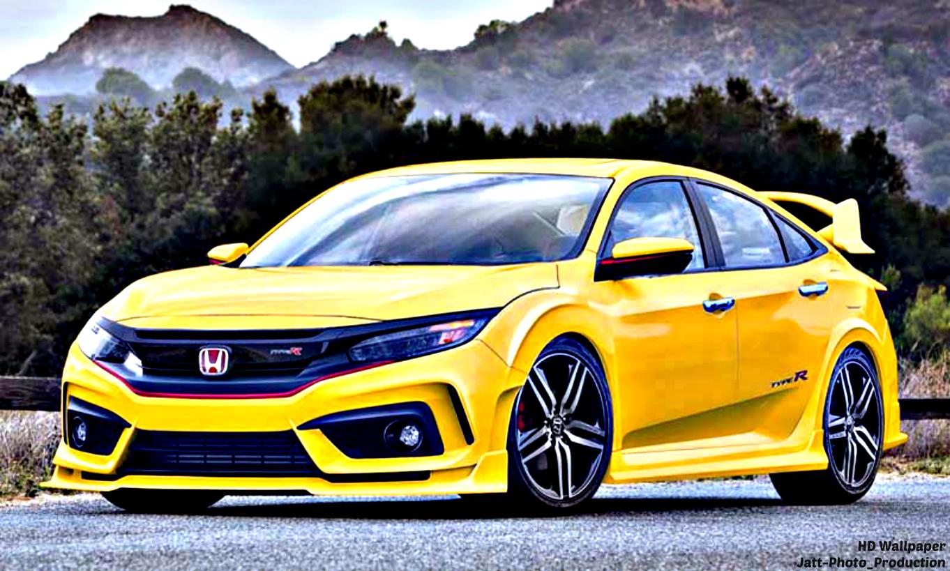 HD Wallpaper: 10+ Modefied Honda Civic HD 2017 TURBO | Type R.