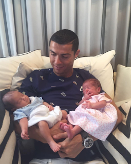 Cristiano Ronaldo shares first photo of his twin boys as he meets them for the first time