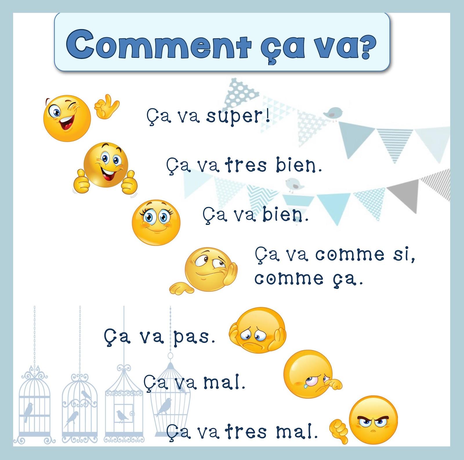Podstawowe zwroty - pytanie o samopoczucie 1 - Francuski przy kawie