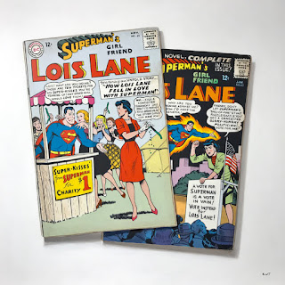lois lane superman silver age comic book books trompe loeil painting photorealism paintings