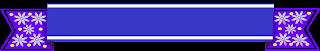 Faixa ribbon azul flor - Criação Blog PNG-Free