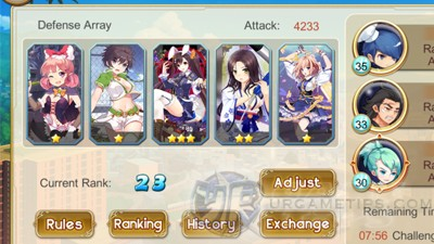 Girls X Battle PVP Arena Early Game
