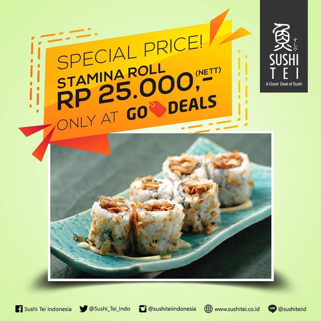 Sushi Tei - Promo Spesial Price Stamina Roll Cuma 25 Ribu Pakai GODEALS GOJEK