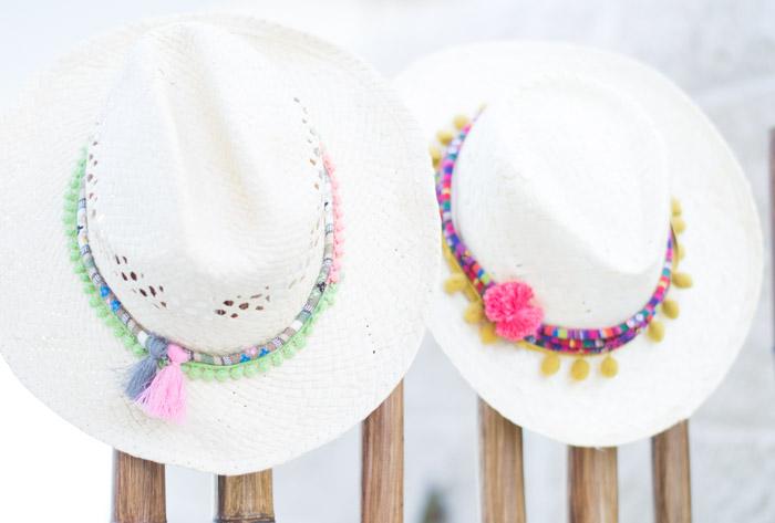 Sombreros Boho-étnico diy