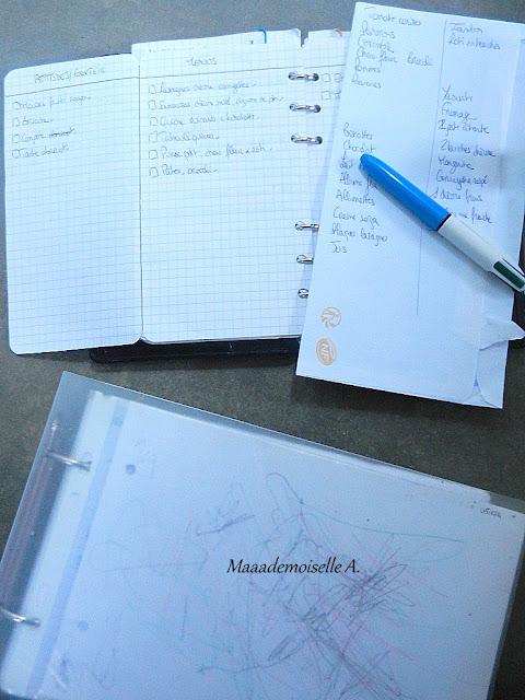 ||  Planifier ses  menus à l'avance ; Pourquoi ?, Comment ?, Mon organisation ! - Planning, Liste de courses et Classeur de recettes