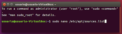 sudo nano /etc/apt/sources.list