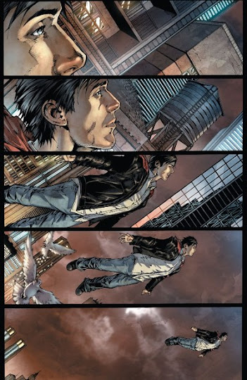 clark kent flying in superman earth one