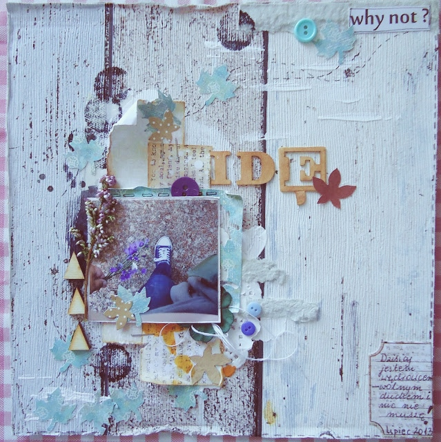 karta z albumu z wrzosem
