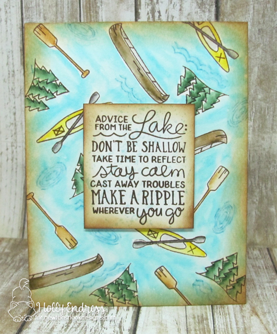 Advice from the Lake Card by Holly Endress | Lake Advice Stamp Set by Newton's Nook Designs  #newtonsnook