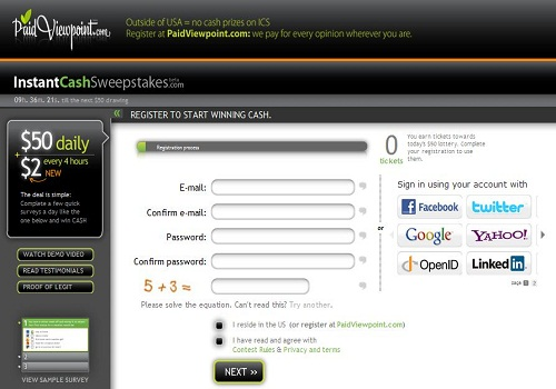 InstantCashSweepstakes.com is a good platform for earning money online