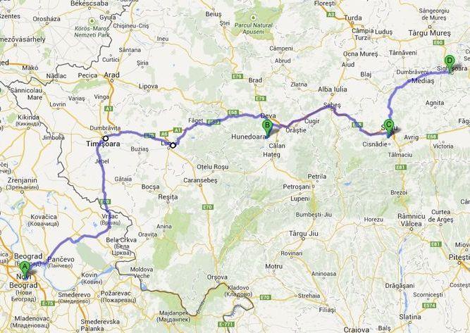 beograd temisvar mapa Idemo dalje: Transilvanija 1.deo, putovanje i Hunjadi zamak beograd temisvar mapa