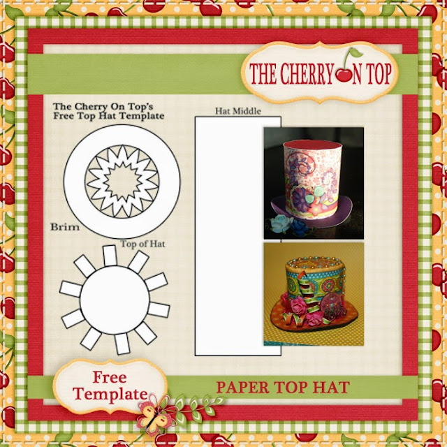 the cherry on top paper top hat tutorial with free template