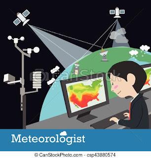 ilustrasi seorang meteorologis