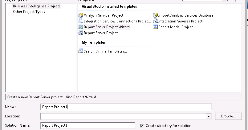 SSRS Tutorials: Lesson 4 : Creating your first SSRS report