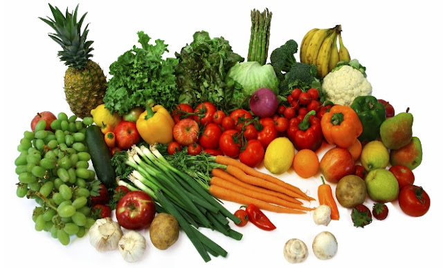 Healthy eating with fruits and vegetables