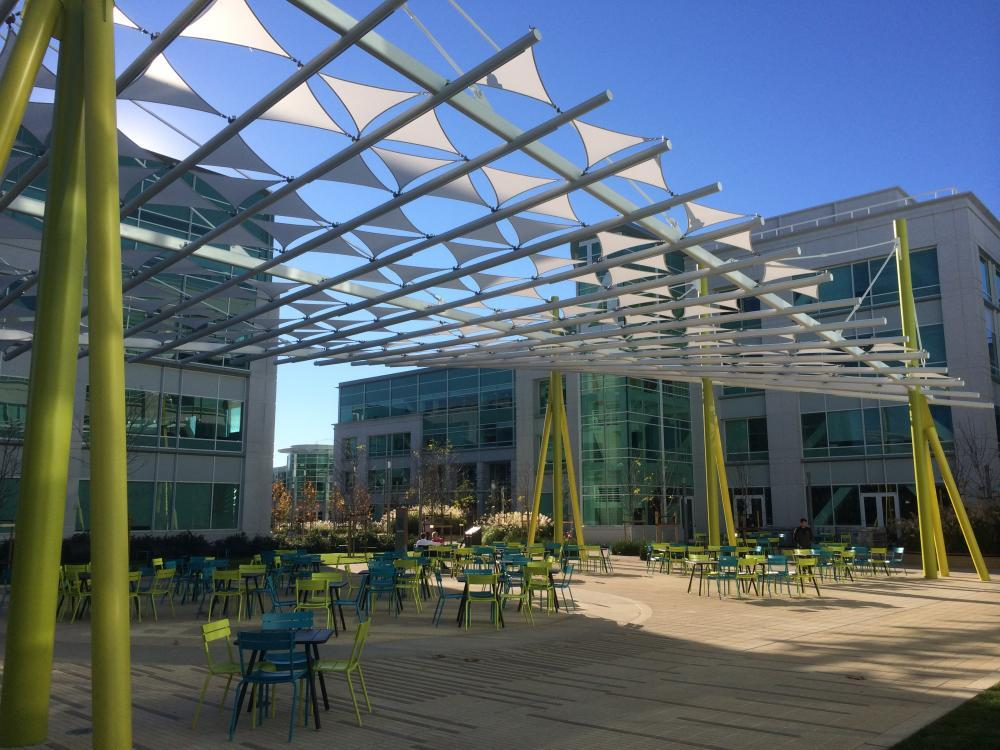 Tensile fabric structures at Google & Rhino News etc.: Tensile fabric structures at Google