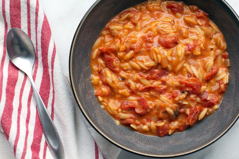 Tomato Orzo Soup || A Less Processed Life