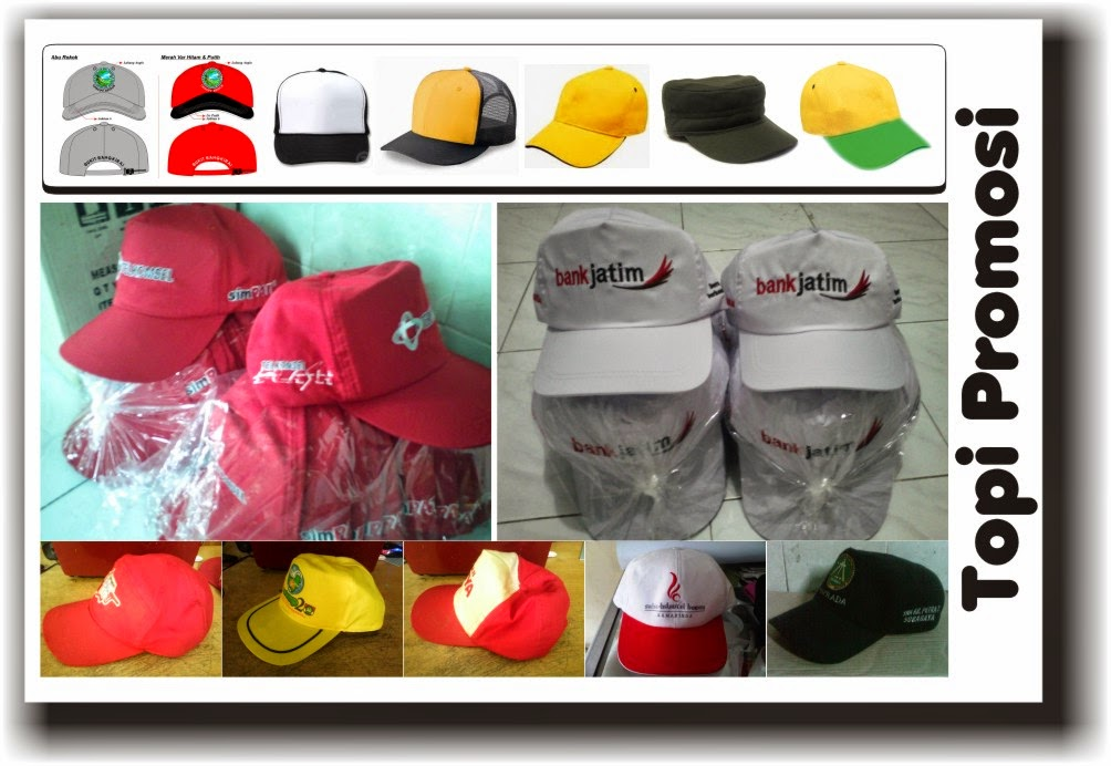 Produksi Topi, Sablon Dan Bordir Topi Promosi