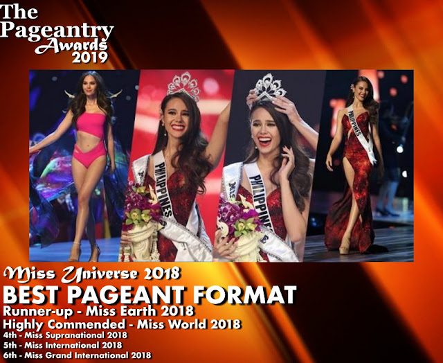 Pageantry Awards 2019 Miss Universe Wins Best in Pageant Format