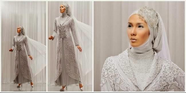 Model gaun pengantin muslim terbaru 2017