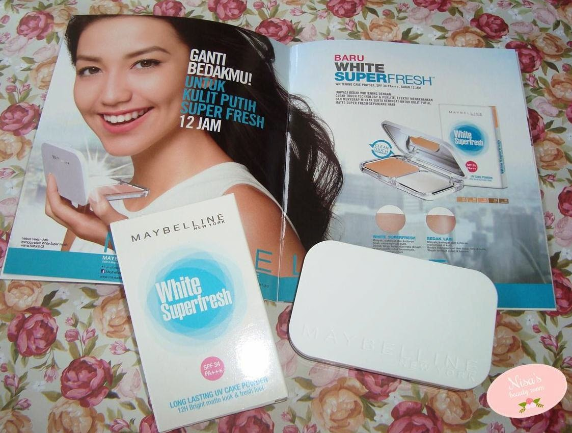 Review Maybelline White Superfresh Long Lasting UV Cake Powder