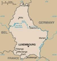 Peta Negara Luksemburg