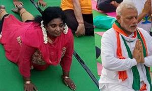 Tamilisai Soundararajan at International Yoga Day